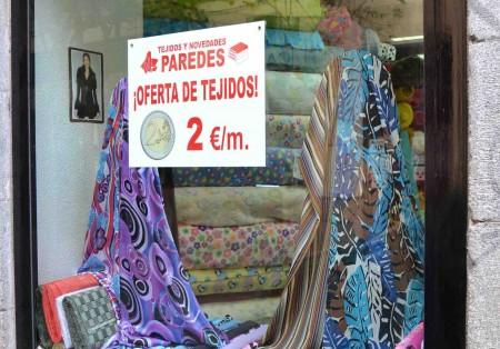 Nuestras tiendas de telas en madrid y fuenlabrada for Tejidos y novedades paredes